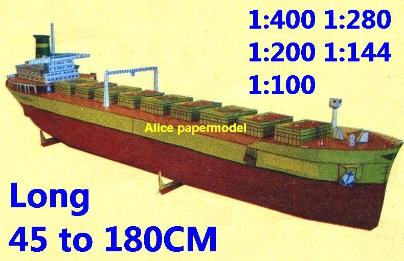 bulk freighter Ocean-going oil tanker cargo Container vessel Ship Ferry tugboat paper models