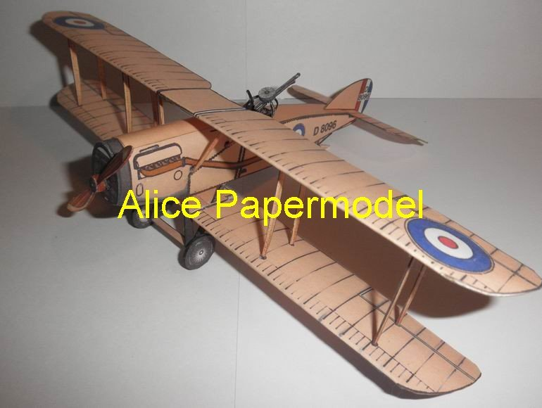 Bristol F2B fighter vintage aircraft biplane models