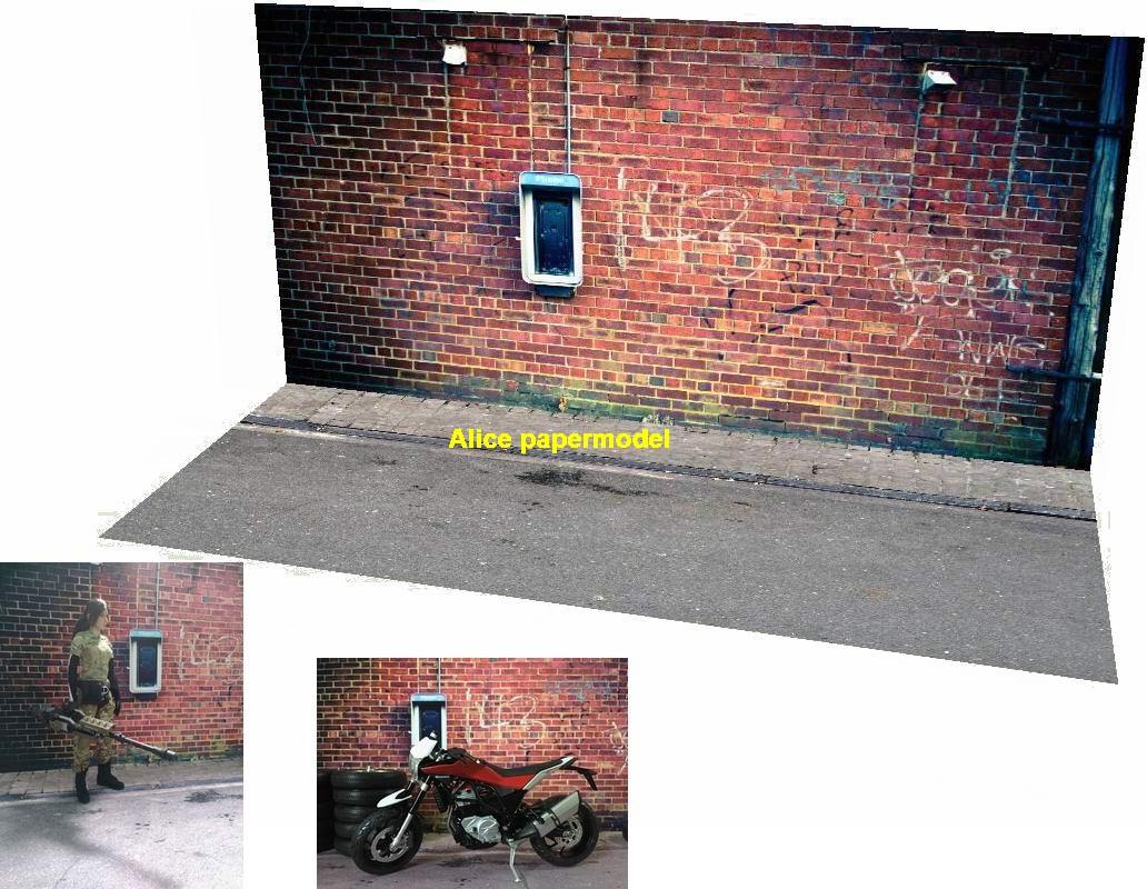 red brick wall warehouse factory underground parking garage area lot car model scene base background models