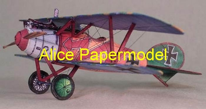Easy made WWI German Albatros DVa fighter aircraft biplane models