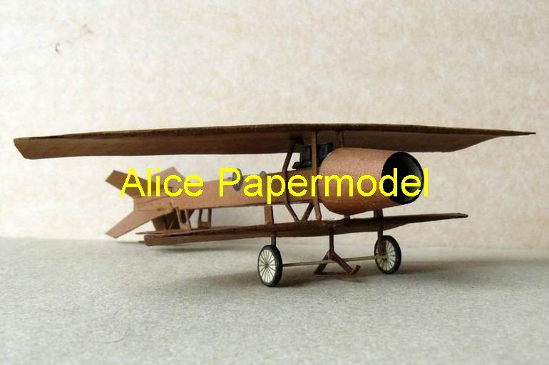 Easy made Coanda1910 rocket Single-engine vintage aircraft biplane models