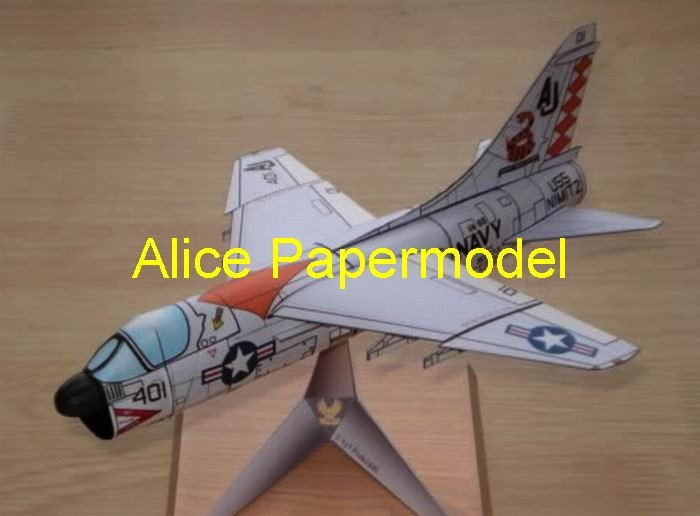 Easy made US fighter A7-D Corsair II aircraft biplane models