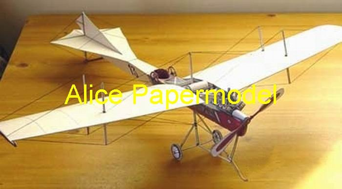 Easy made AntoinetteVII vintage fighter aircraft biplane models