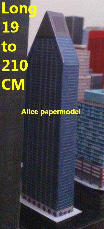 US USA New York Manhattan 100 United Nations Plaza skyscraper street city highrise tall High building city scene big large scale size model models kit on for sale store shop