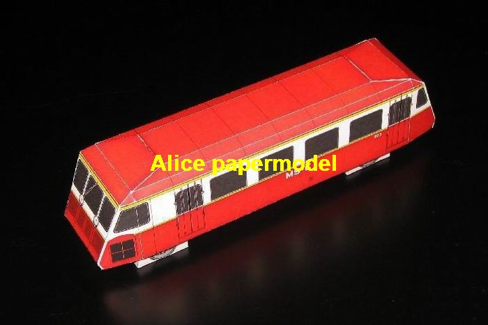 red wagon tram passenger train locomotives trailers railway models