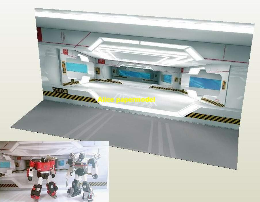 1:6 1:8 1:12 1:16 1:18 1:35 TF Transformers Future building space wall warehouse factory Barbie doll Military Soldiers scene parking garage lot area car model scene background base models