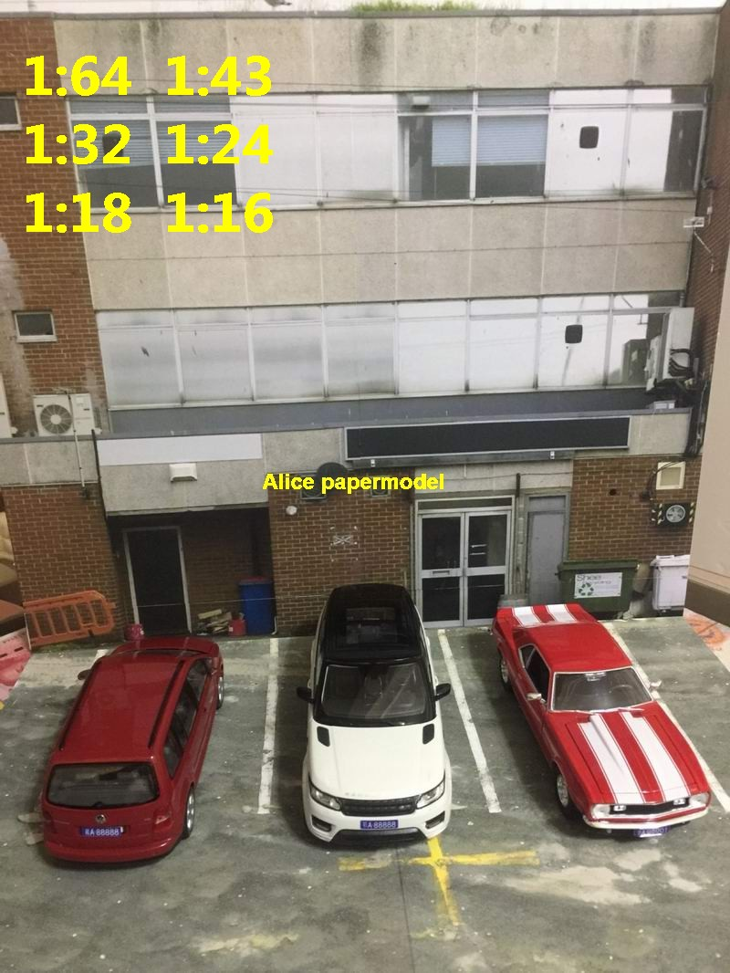 1:64 1:43 1:32 1:24 1:18 1:16 factory Hot Wheels drift underground garage parking lot area car model scene background base platform models AM1573