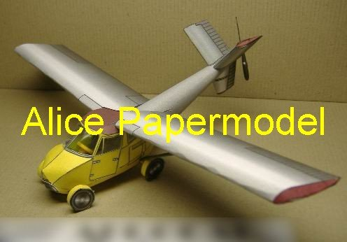 Easy made Aerocar flycar flying car sedan aircraft biplane models