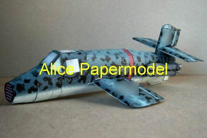 WWII German jet fighter Bachem Ba 349 Natter aircraft biplane models