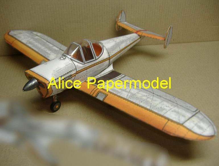 Ercoupe Single-engine figher vintage aircraft biplane models
