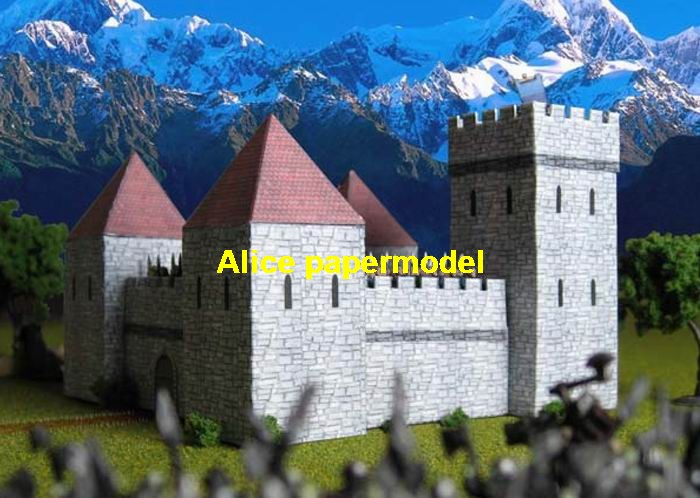 ancient castle defense Fortress Europe dwelling house building scene models