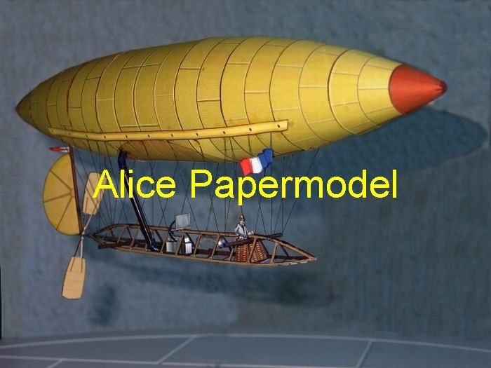 Easy made France DuMont old airship ballon aircraft biplane models
