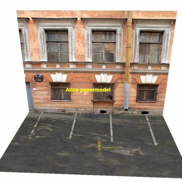house building underground garage parking lot area car model scene background base platform models