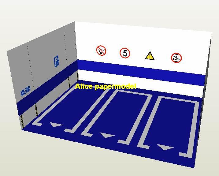 Hot Wheels tomica drift blueunderground garage parking lot spaces area car model scene background base platform models