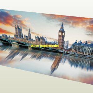 UK London Big Ben Thames River Westminster House of Parliament harbor parking area lot car model