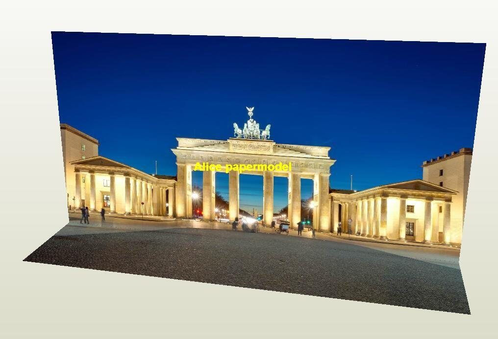German Berlin the Brandenburg Gate garage parking lot area car model scene