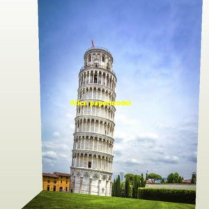 Italy Pisa Leaning Tower parking garage lot area car model scene background base models