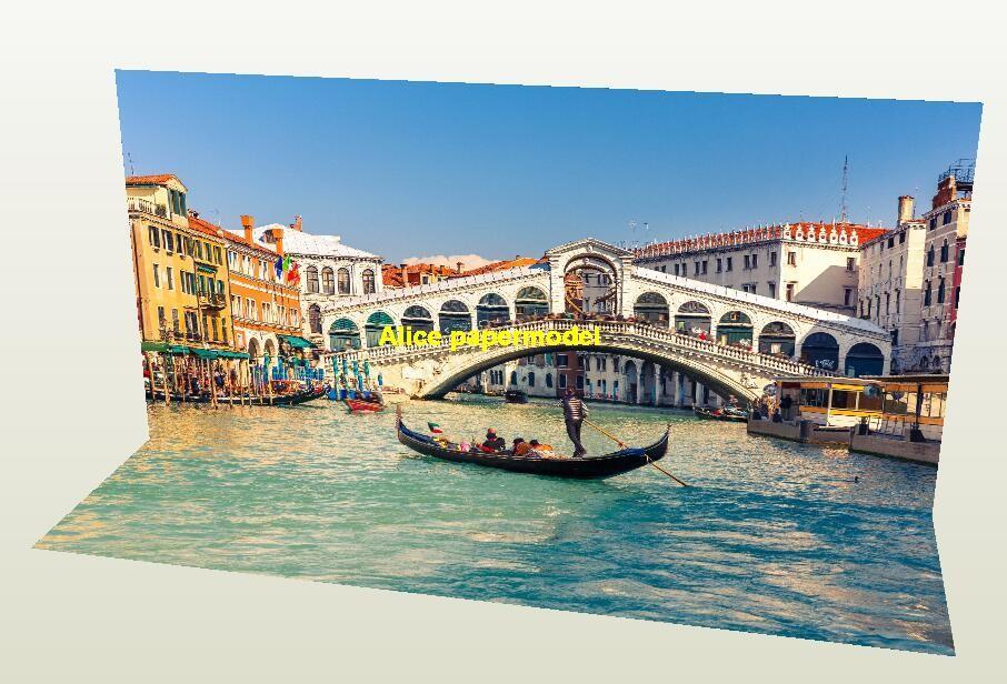 Italy Venice Gondola Water city parking garage lot area car model scene background base models