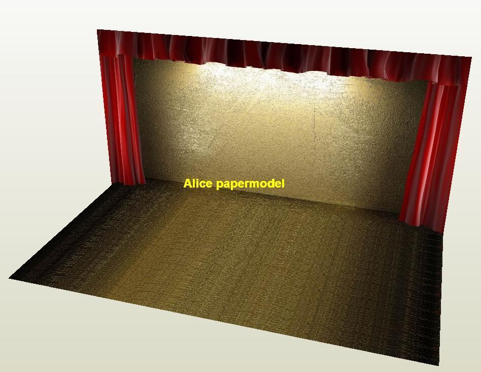 cinema theater stage soldier parking garage lot area car model scene background base models