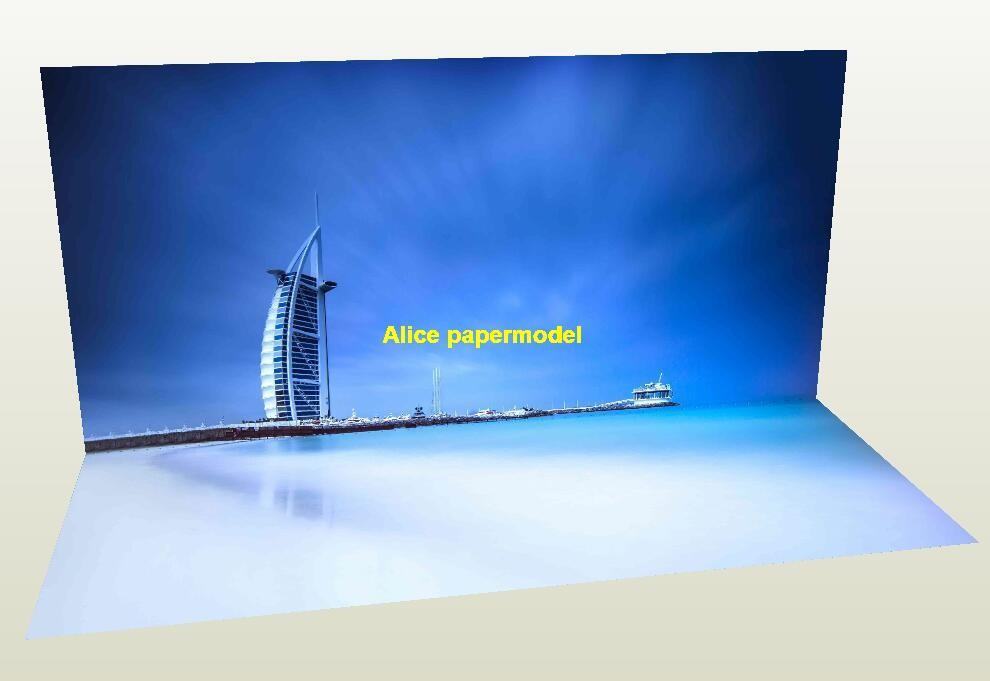 UAE Dubai Sailing hotel street City building skyscraper parking garage lot area car model scene background base models