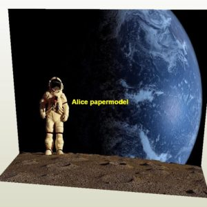 Astronauts landing on the moon sun space Cosmic sky Space parking garage area lot parking car model scene background base models