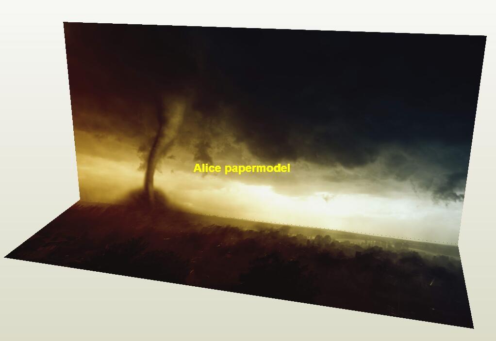 Tornado raging forest natural disaster car model scene background base models