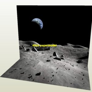cosmos Lunar surface Astronauts landing on the moon sun space Cosmic sky Space parking garage area lot car model scene background base models