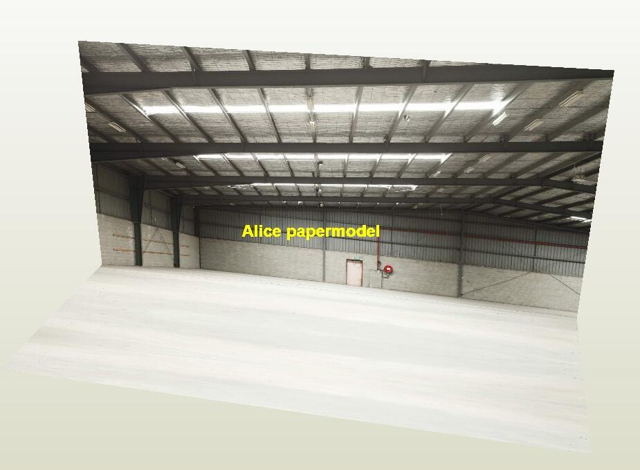Aircraft hangar Airport scene highway warehouse space parking garage area lot car model scene background base models