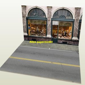 1:64 1:43 1:32 1:24 1:18 1:12 1:10 1:8 1:6 scale European city shop street scene house building underground garage parking lot area car model scene background platform base models