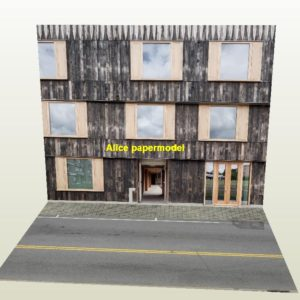 commercial Apartment European city shop street scene house building underground garage parking lot area car model scene background base platform models
