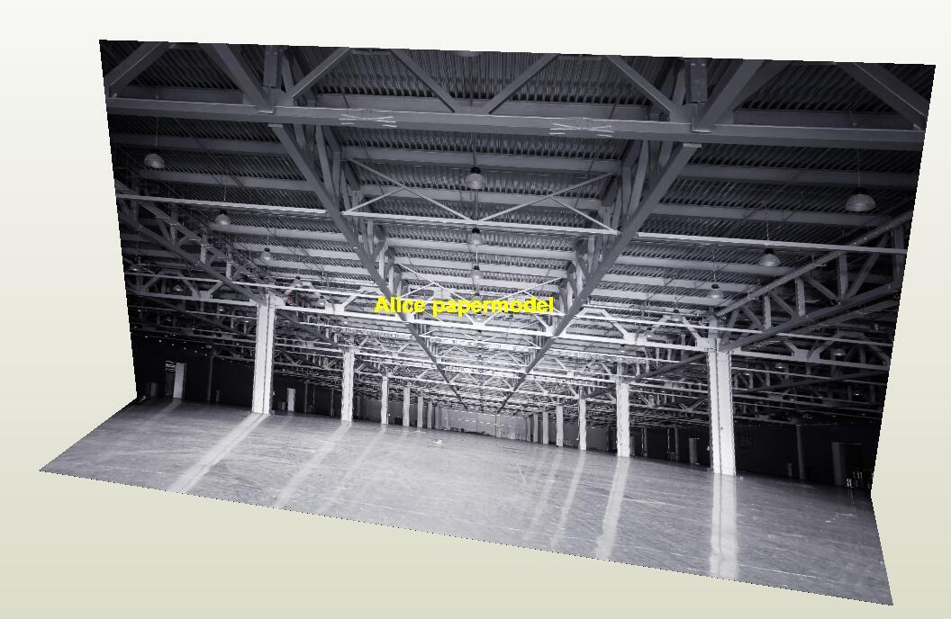 Aircraft hangar Airport scene factory warehouse parking garage area lot car model scene background base models