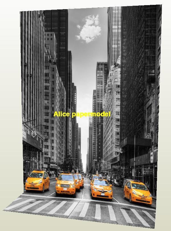 New York Manhattan Street Scene