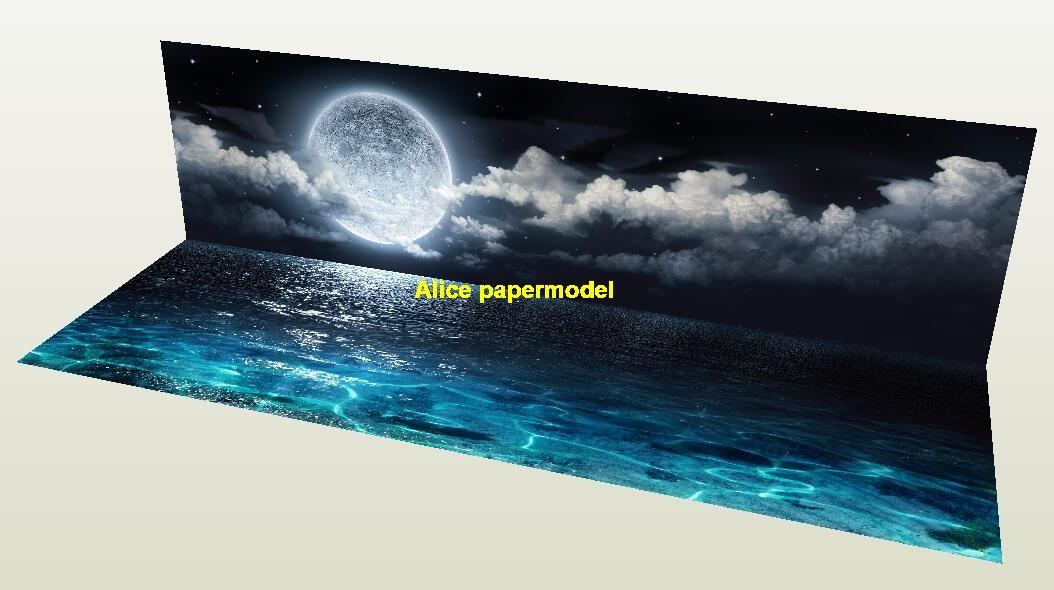 sea Night view parking garage car model scene background base models