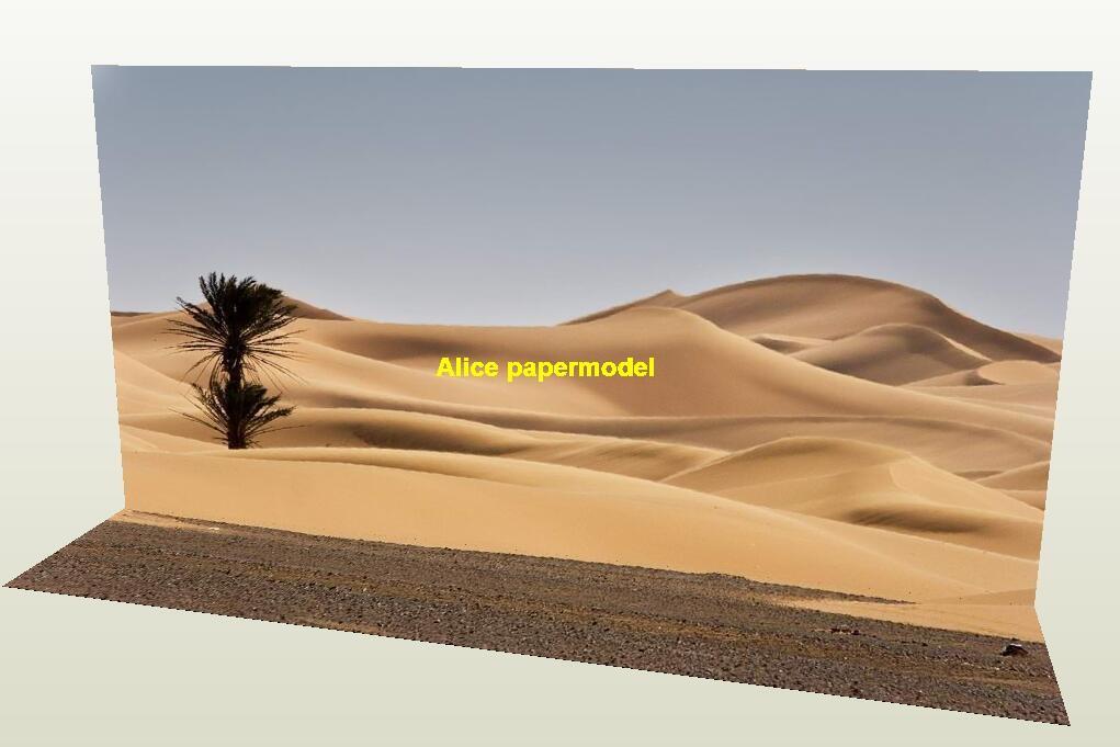 Sahara Desert parking garage car model scene background base models