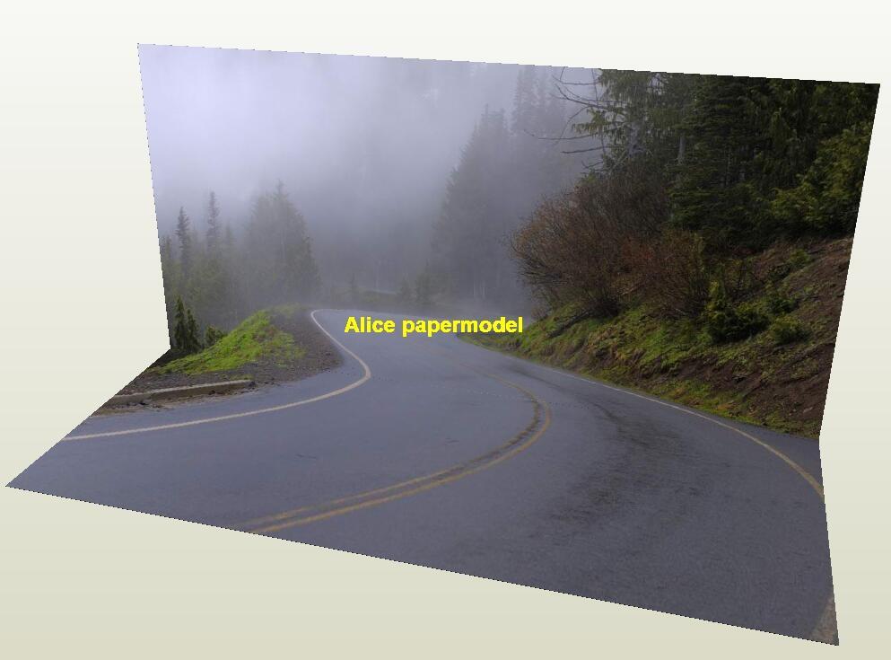 mist highway City road Skyscrapers car model scene background base models