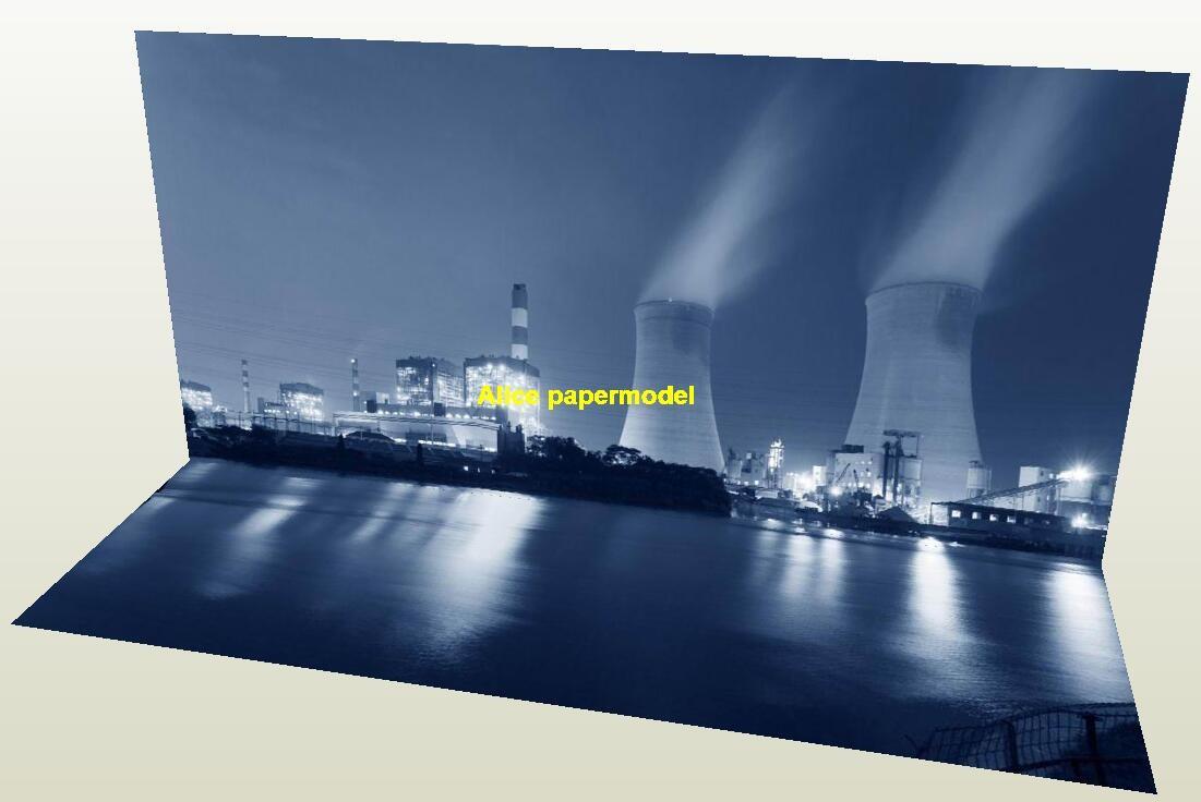 Nuclear power chemical plant parking garage car model scene background base models
