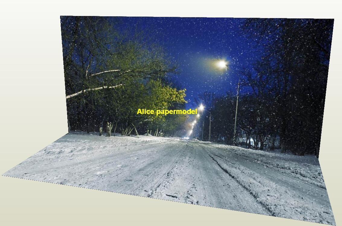 1:64 1:43 1:32 1:24 1:18 winter snow road City highway street road Skyscrapers car model scene background base models