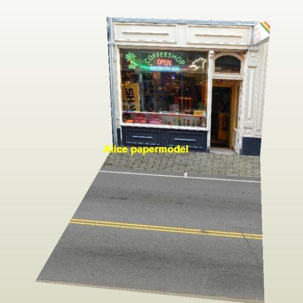 1:64 1:43 1:32 1:24 1:18 1:12 1:10 1:8 1:6 scale Cafe grocery store city shop street scene house building garage parking lot area car model scene background base platform models
