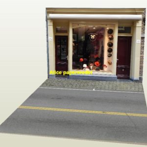 coat hat grocery store city shop street scene house building garage parking lot area car model scene background base platform models