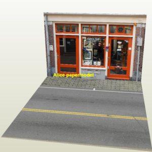 Gallery artwork store city shop street scene house building garage parking lot area car model scene background base platform models