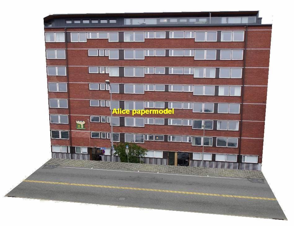 Residential building drift underground garage parking lot area car model scene background base platform models