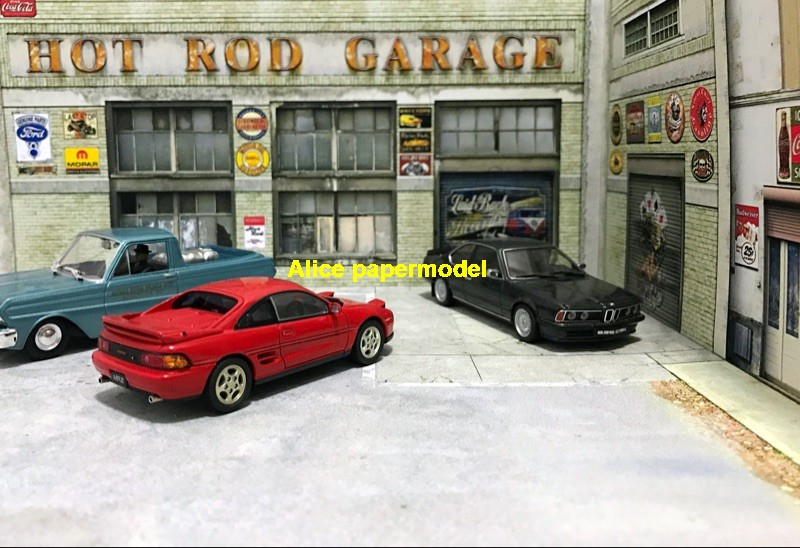 Hot Wheels tomica drift underground garage parking lot area car model scene background base platform models