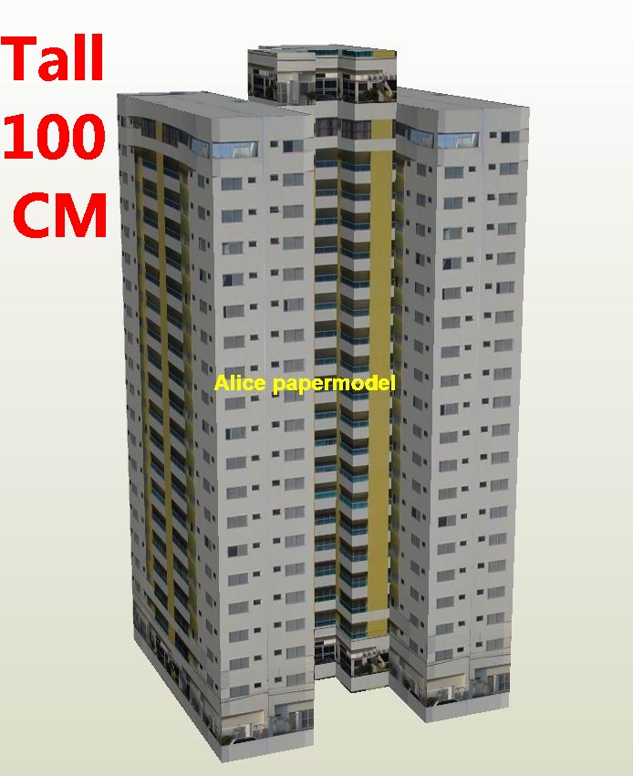 Apartment building skyscraper tall building structure house models