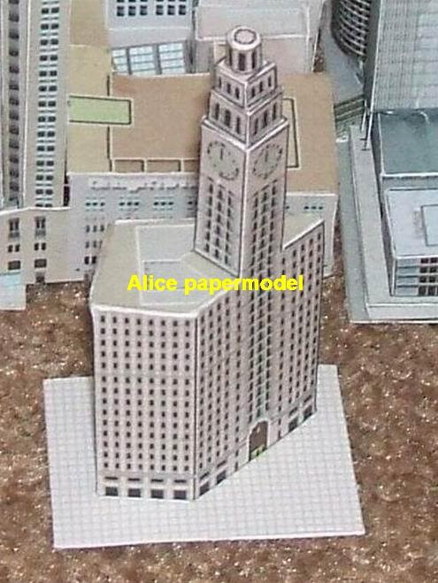 USA US Illinois Chicago North Michigan Avenue The Wrigley tower skyscraper street city highrise tall High building city scene big large scale size model models kit on for sale store shop