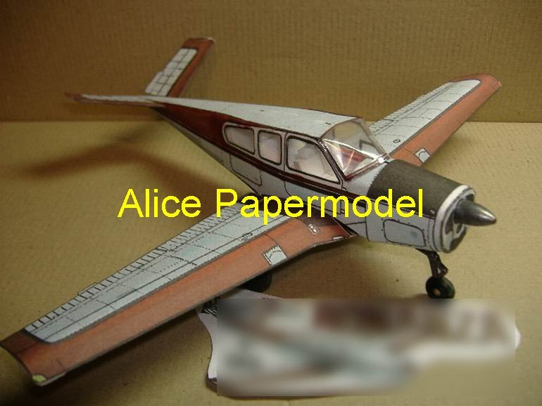 Easy made Bonanza Single-engine plane vintage aircraft biplane models