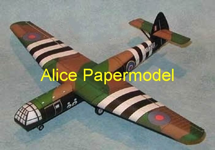WWII UK Horsa Invasion Glider figher aircraft biplane models