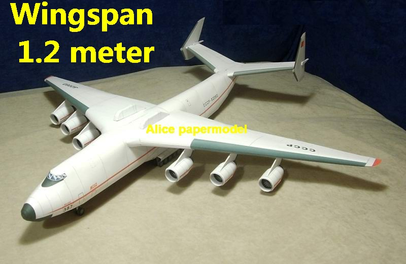 Antonov An-225 An2255 Remote transport plane figher aircraft army warplane models