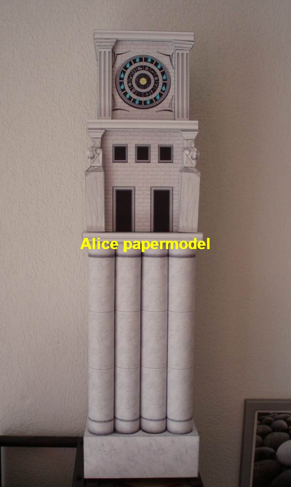 Ancient Greece Athens temple bell tower of Saint Seiya twelve clock tower the palace building scene models