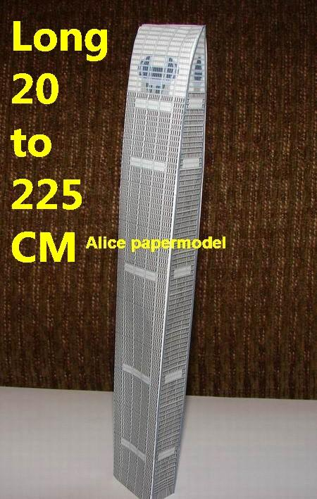 China Chinese guangzhou the kingkey tower skyscraper street city highrise tall High building city scene big large scale size model models kit on for sale store shop