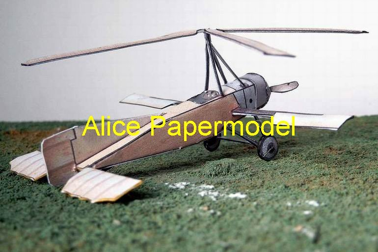 Easy made Helicopter Rotorcraft vintage aircraft biplane models